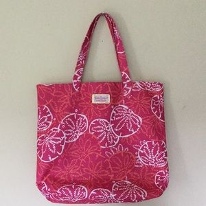 Lilly Pulitzer hot pink beach tote NEW